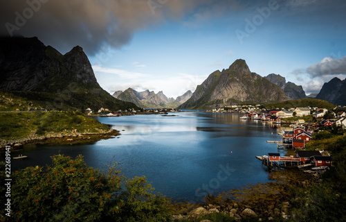 Foto op Aluminium Cathedral Cove Reine, Norway Landscape