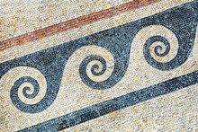 Greek Wave Mosaic Background