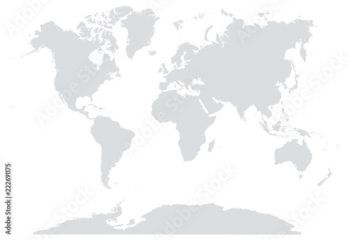 Keuken foto achterwand Wereldkaart 15% GRAY WORLD MAP EDITABLE