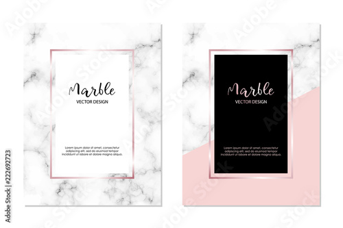 Fototapeta Marble Vector Design Template For Invitation Banners Greeting Card Etc Minimalist Textured Cover