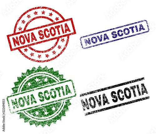 Stampa su Tela NOVA SCOTIA seal prints with corroded style