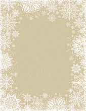 Beige Christmas Background Wit...