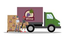Big Truck Full Of Bottles Of Wine