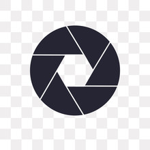 Shutter Icon On Transparent Ba...