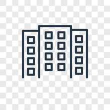 Building Icons Isolated On Transparent Background. Modern And Editable Building Icon. Simple Icon Vector Illustration.