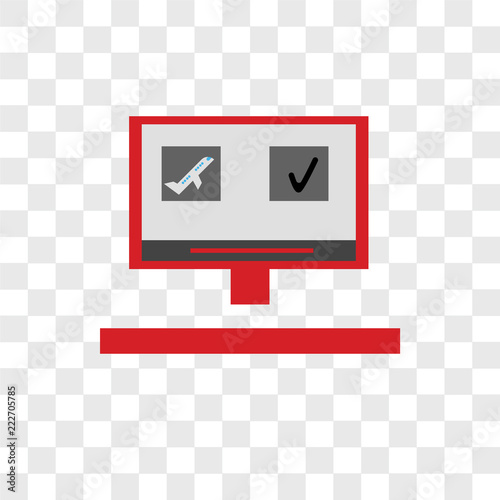 Booking Icons Isolated On Transparent Background Modern And