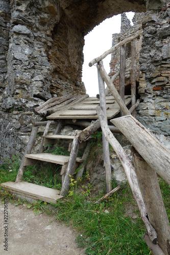 Foto op Aluminium Rudnes Ruins Brekov Castle, Slovakia