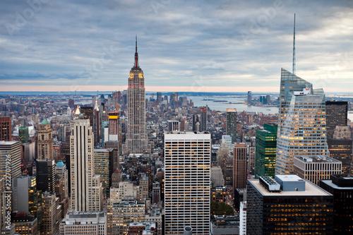 Poster Stad gebouw Cityscape of Manhattan, New York, USA
