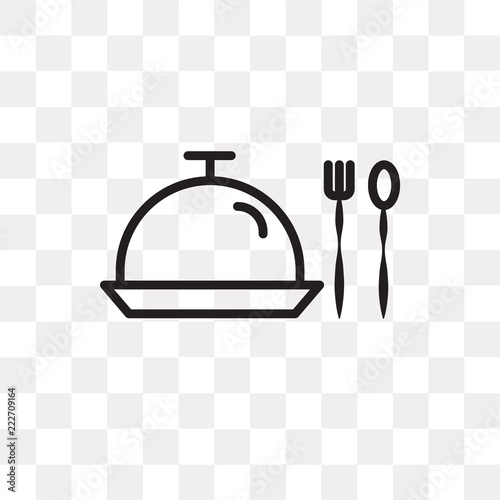Fotografie, Obraz  Serve vector icon isolated on transparent background, Serve logo design
