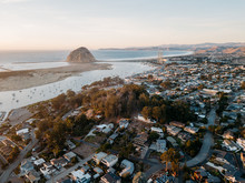Aerial View Of Morro Bay, Cali...