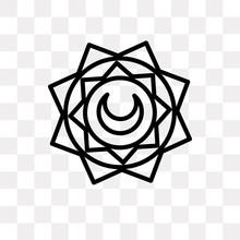 Islamic Art Icon On Transparent Background. Modern Icons Vector Illustration. Trendy Islamic Art Icons