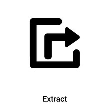 Extract Icon Vector Isolated On White Background, Logo Concept Of Extract Sign On Transparent Background, Black Filled Symbol