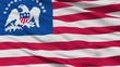 Us 13 Star Peace Indian Flag, Closeup View, 3D Rendering