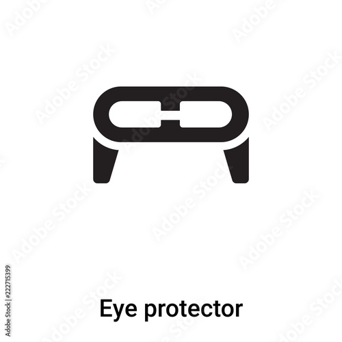 Eye Protector Icon Vector Isolated On White Background Logo Concept