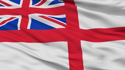 United Kingdom Naval Ensign Flag, Closeup View, 3D Rendering