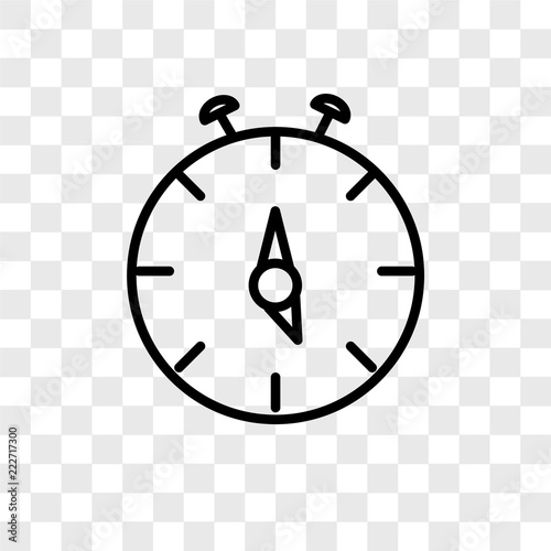 stop watch icons isolated on transparent background  Modern