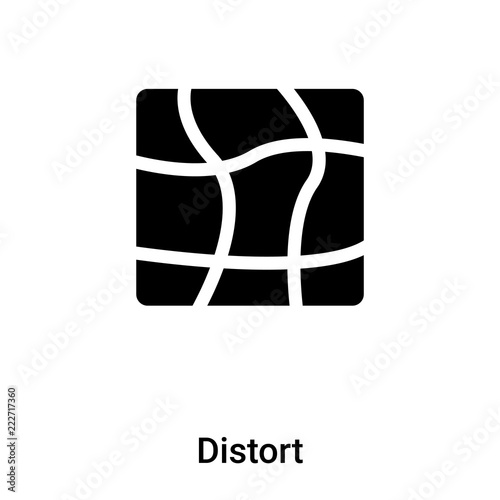 Fotografie, Obraz  Distort icon vector isolated on white background, logo concept of Distort sign o