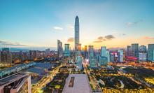 Shenzhen City Scenery Alternating Around The Clock
