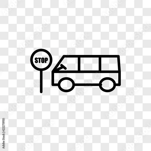bus stop icons isolated on transparent background  Modern