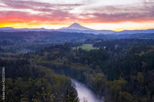 Fotografía  Mount Hood Sunrise View