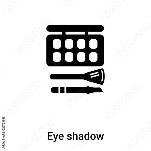Eye shadow icon vector isolated on white background, logo concept of Eye shadow sign on transparent background, black filled symbol Fototapete