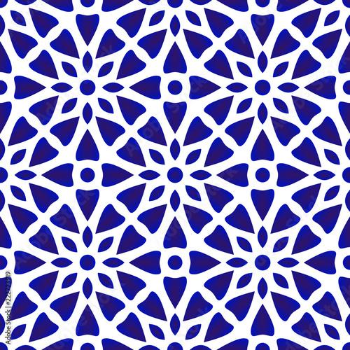 Fotomural porcelain pattern