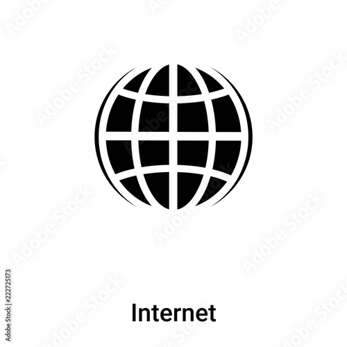 Internet Icon Vector Isolated On White Background Logo Concept Of Internet Sign On Transparent Background Black Filled Symbol Buy This Stock Vector And Explore Similar Vectors At Adobe Stock Adobe Stock