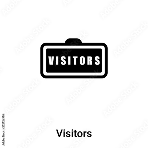 Fotografie, Obraz  Visitors icon vector isolated on white background, logo concept of Visitors sign