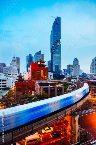 Fotografie, Obraz  Bangkok business district