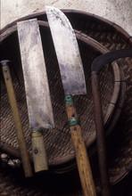 日本の伝統食品の碁石茶作りの道具