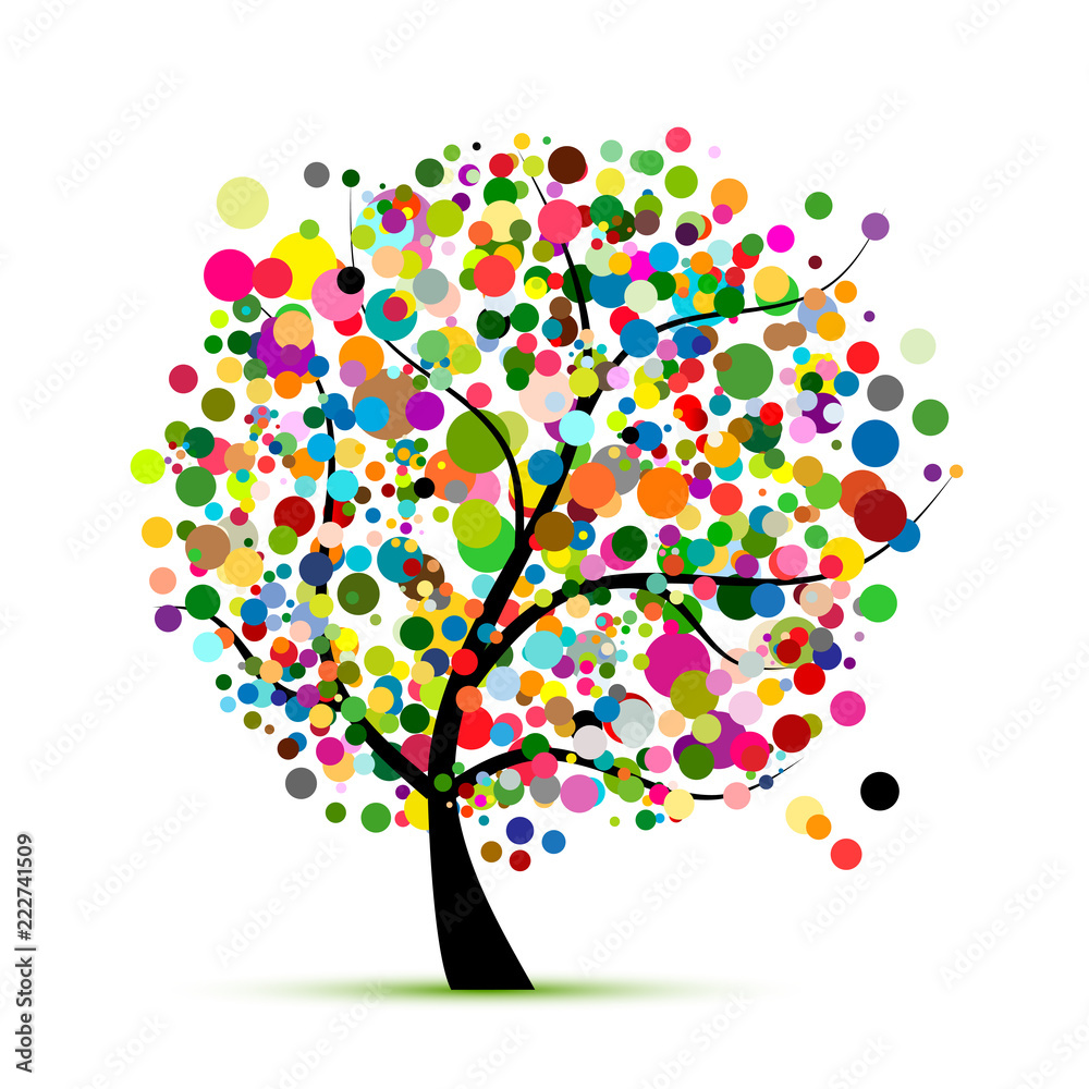 Fototapeta Abstract colorful tree for your design
