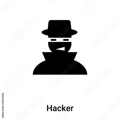 Hacker Icon Vector Isolated On White Background Logo Concept Of Hacker Sign On Transparent Background Black Filled Symbol Buy This Stock Vector And Explore Similar Vectors At Adobe Stock Adobe Stock