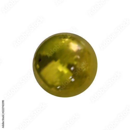 Vector Photo Realistic Golden Ball, Metallic Texture