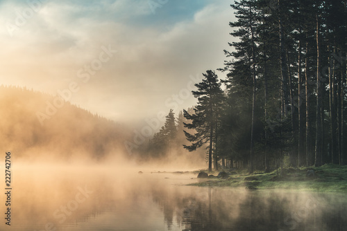 morning-fog-on-the-lake-sunrise-shot