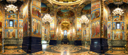 Photo sur Toile Edifice religieux Interior of the Church of the Savior on Spilled Blood in St. Petersburg, Russia