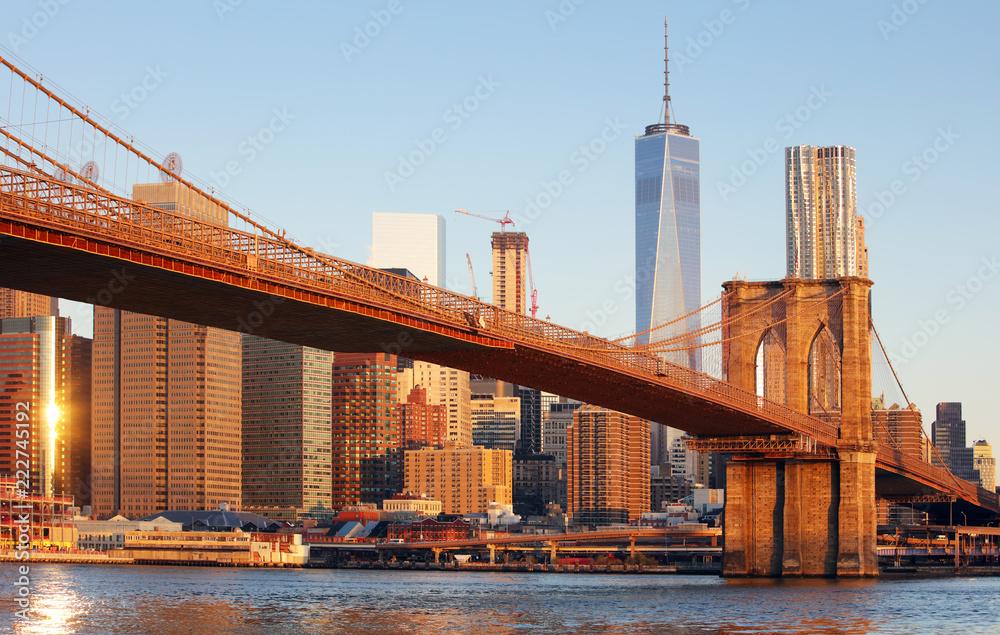 Fototapety, obrazy: New York City - Brooklyn bridge, USA