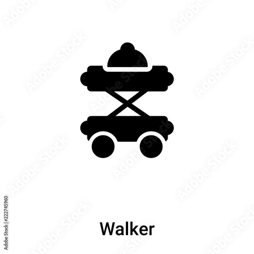 Photo  Walker icon vector isolated on white background, logo concept of Walker sign on
