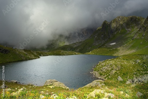 Tuinposter Meer / Vijver Lake in mountains