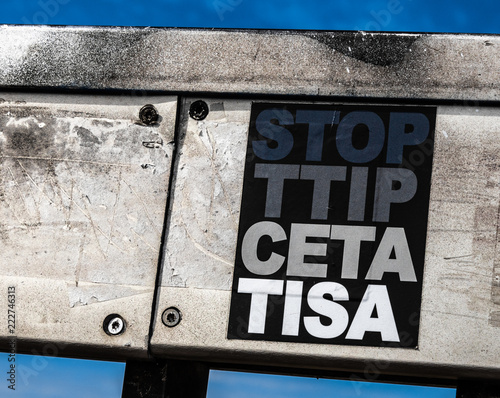 Stop Ttip Ceta Tisa Sticker Buy This Stock Photo And