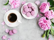 Pink Peony With Coffee And Mac...