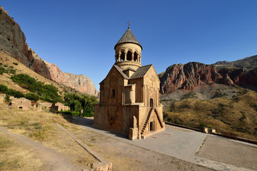 Armenia, Noravank monastery near Areni village. Armenian monastery from the 13th century, put in the ravine of the river of Arpa, in the Wajoc Dzor province in Armenia