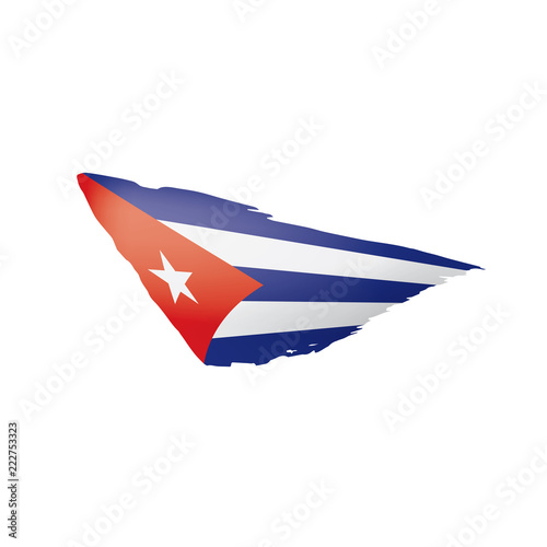 Cuba flag, vector illustration on a white background. Canvas Print