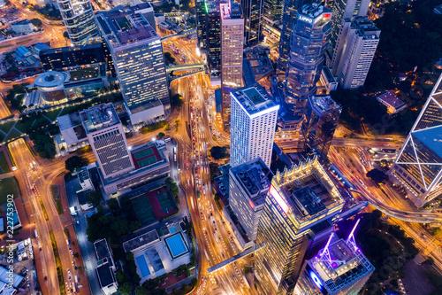 Fotografija  Top down of Hong Kong business office tower