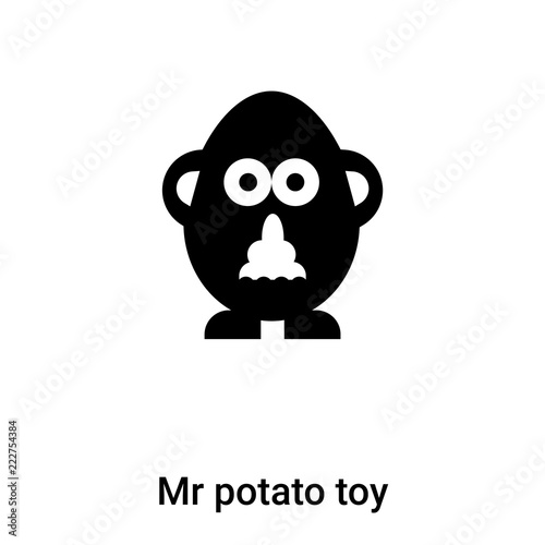 Photo  Mr potato toy icon vector isolated on white background, logo concept of Mr potat