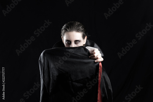 Fotografie, Obraz Woman in a vampire costume for halloween