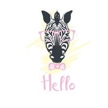 Fashion Portrait Of Funky Zebra