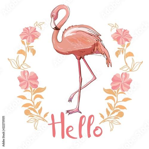 rozowa-flaming-wektorowa-ilustracja-odizolowywajaca-na-bialym-tle