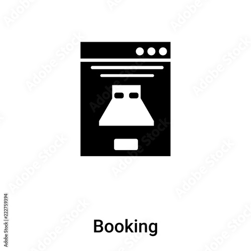 Booking Icon Vector Isolated On White Background Logo