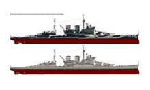 Battlecruiser Of The Royal Navy. HMS Renown. Illustration.