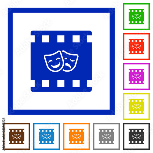 Foto  Theatrical movie flat framed icons